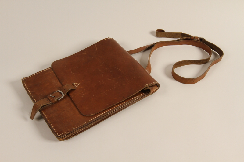 1991.168.2 front Bag used by a Yugoslav partisan to hold bread or maps