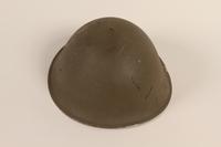 2012.229.1 front Brodie pattern MK II green steel helmet worn by a Belgian officer  Click to enlarge