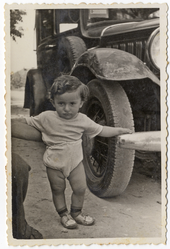 Israel Gliklich, son of Itzchak and Malka Gliklich, born in the Wels DP camp. Shmuel and Miriam Kaufman Collection