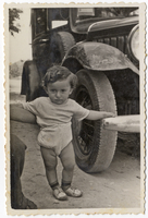 Israel Gliklich, son of Itzchak and Malka Gliklich, born in the Wels DP camp. Shmuel and Miriam Kaufman Collection  Click to enlarge