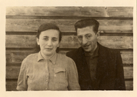 Shmuel's maternal Uncle Itzchak Gliklich and his wife Malka Shmuel and Miriam Kaufman Collection  Click to enlarge
