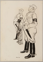 1991.182.14 front Anti-Nazi drawing published in the PM newspaper  Click to enlarge