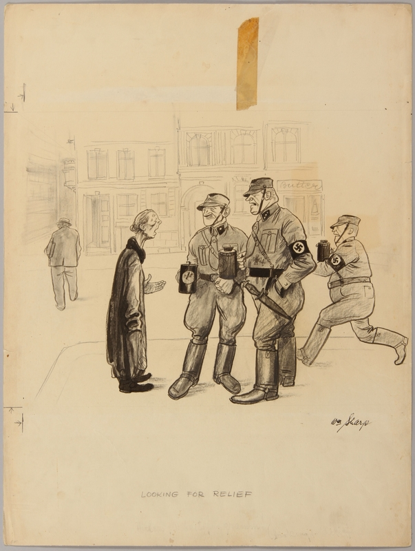 1991.182.17 front Anti-Nazi drawing published in the PM newspaper