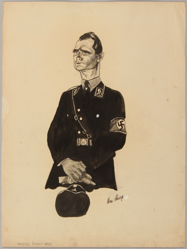 1991.182.21 front Anti-Nazi drawing published in the PM newspaper
