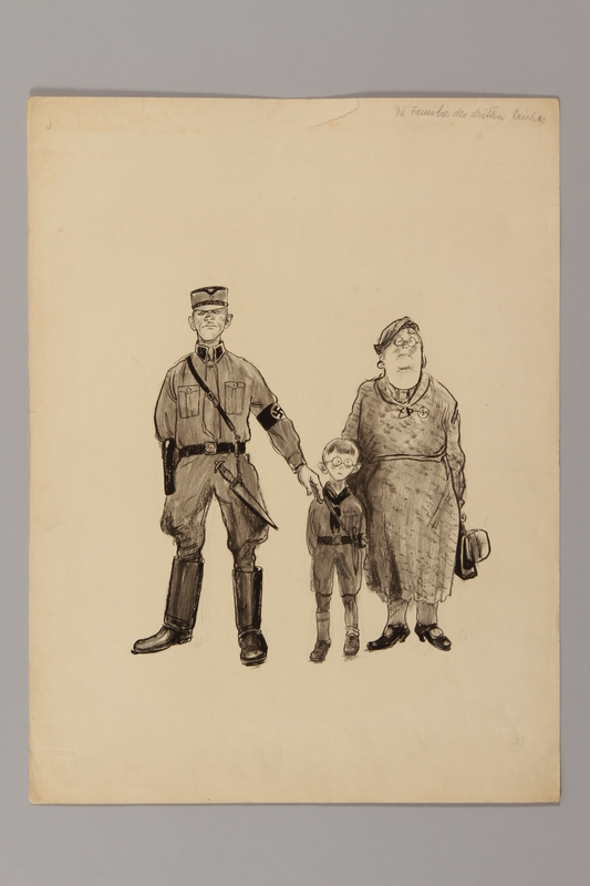 1991.182.22 front Anti-Nazi drawing published in the PM newspaper