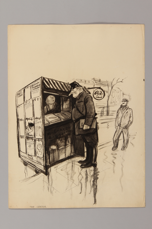 1991.182.25 front Anti-Nazi drawing published in the PM newspaper
