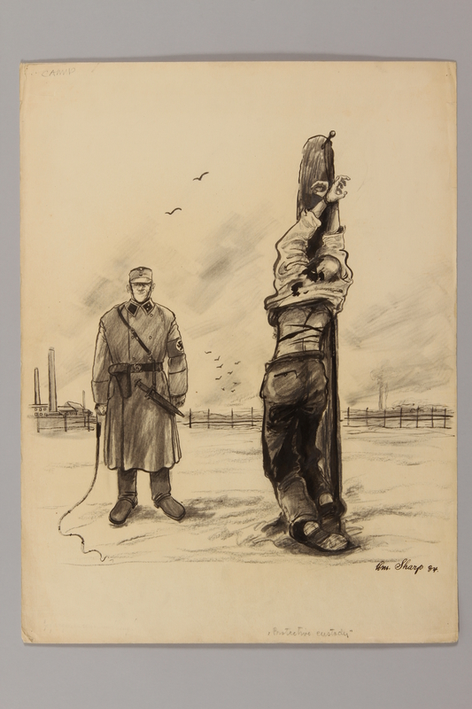 1991.182.29 front Anti-Nazi drawing published in the PM newspaper