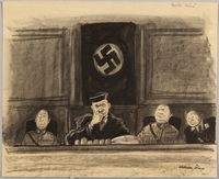 1991.182.3 front Anti-Nazi drawing published in the PM newspaper  Click to enlarge