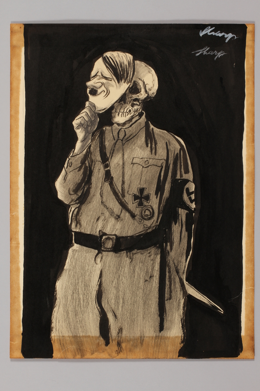 1991.182.31 front Anti-Nazi drawing published in the PM newspaper