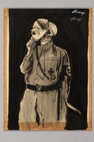 1991.182.31 front Anti-Nazi drawing published in the PM newspaper  Click to enlarge