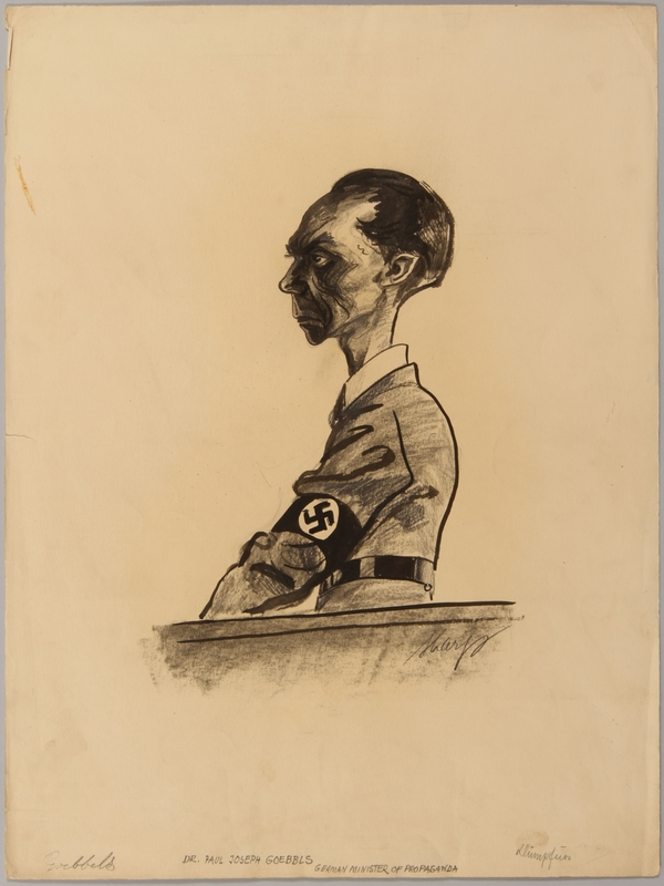 1991.182.9 front Anti-Nazi drawing published in the PM newspaper