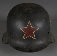 2010.507.2 front Wehrmacht helmet acquired by a US soldier  Click to enlarge