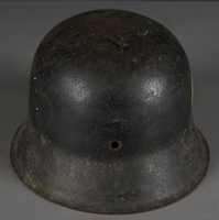 2010.507.2 back Wehrmacht helmet acquired by a US soldier  Click to enlarge