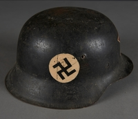 2010.507.2 right side Wehrmacht helmet acquired by a US soldier  Click to enlarge