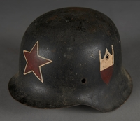 2010.507.2 other Wehrmacht helmet acquired by a US soldier  Click to enlarge