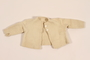 Infant's wool knit sweater with white buttons made for a baby by his mother while in hiding