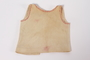 Infant's vest with decorative pink stitches made for a baby by his mother while in hiding