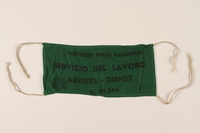 1991.212.3 front Italian Labor Service armband  Click to enlarge