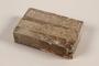 Unused brown soap bar with broken corner imprinted RIF 0667