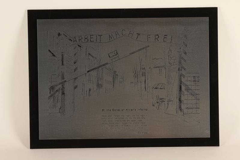 1989.1031 front Engraved commemorative plaque