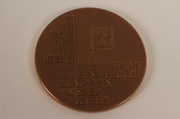 2012.313.3 front From Holocaust to Rebirth commemorative bronze medal acquired by a Polish Jewish survivor of several concentration camps  Click to enlarge