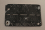 Prisoner ID tag issued to a Hungarian Jewish POW in Stalag XVIII A