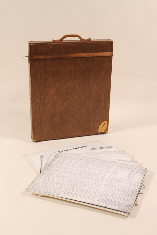 2000.444 front Handwritten copies of original Nuremberg documents