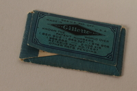 2010.240.20_c back Gillette razor blade, cover and wrapper featuring King C. Gillette brought to Shanghai by an Austrian Jewish refugee  Click to enlarge
