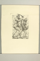 2012.316.1 front Richard Grune lithograph of a concentration camp guard beating a prisoner  Click to enlarge