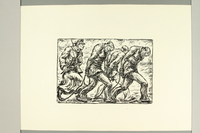 2012.316.4 front Richard Grune woodcut of a guard marching roped concentration camp prisoners  Click to enlarge