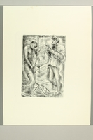 2012.316.10 front Richard Grune lithograph of a torture scene witnessed in a concentration camp  Click to enlarge