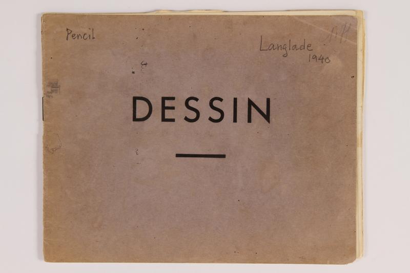 "2010.502.55 a-i front Notebook titled ""Dessin"""