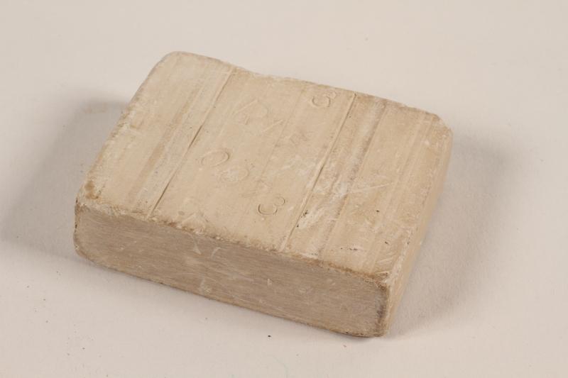 2005.301.1 front Soap from Bergen-Belsen concentration camp