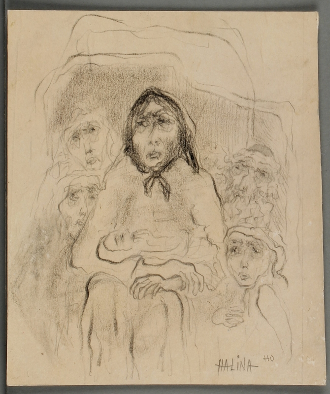 CM_2001.122.34_001 front Halina Olomucki drawing
