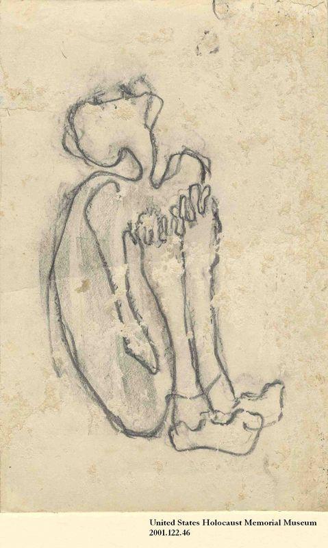 2001.122.46 front Halina Olomucki drawing