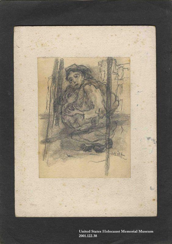 2001.122.38 front Halina Olomucki drawing
