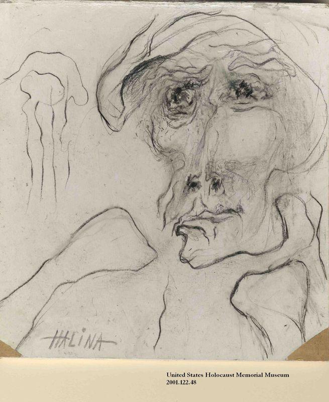 2001.122.48 front Halina Olomucki drawing