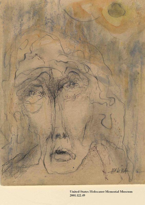 2001.122.49 front Halina Olomucki drawing