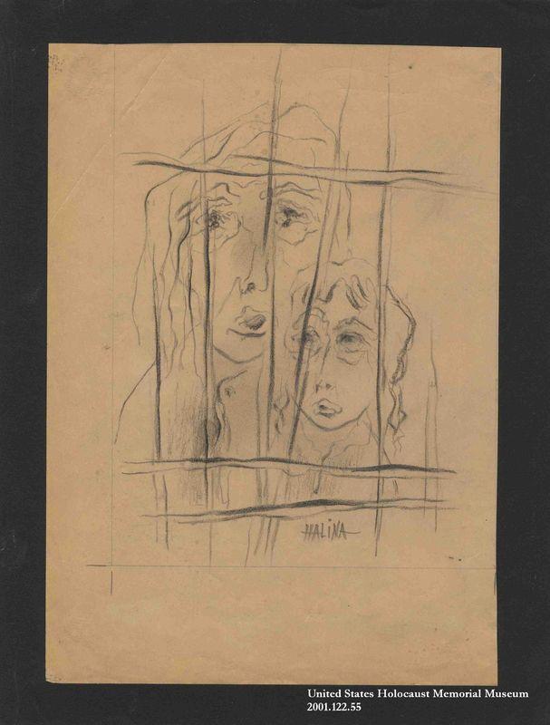 2001.122.55 front Halina Olomucki drawing