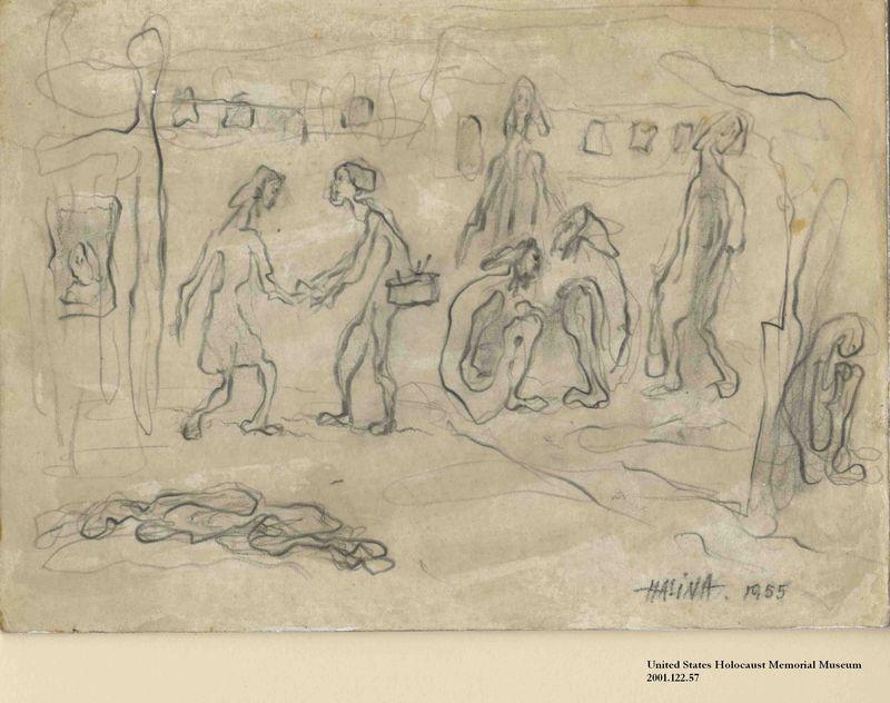 2001.122.57 front Halina Olomucki drawing