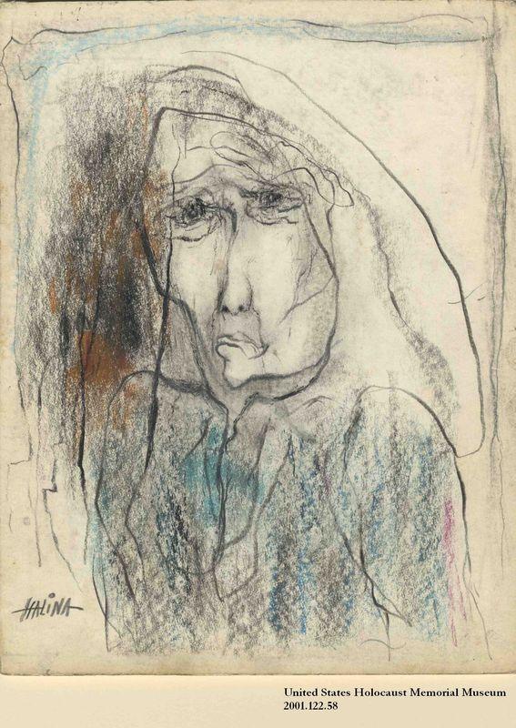 2001.122.58 front Halina Olomucki drawing