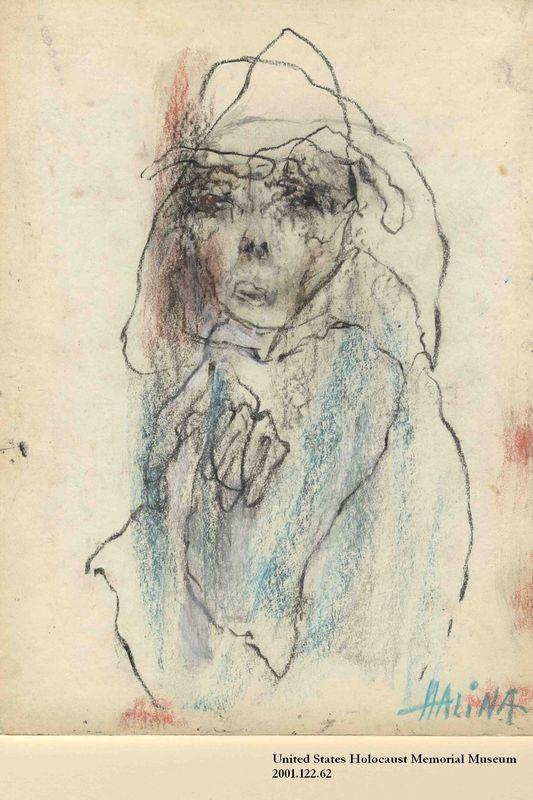 2001.122.62 front Halina Olomucki drawing