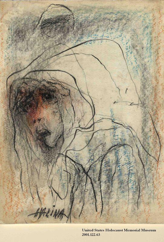 2001.122.63 front Halina Olomucki drawing
