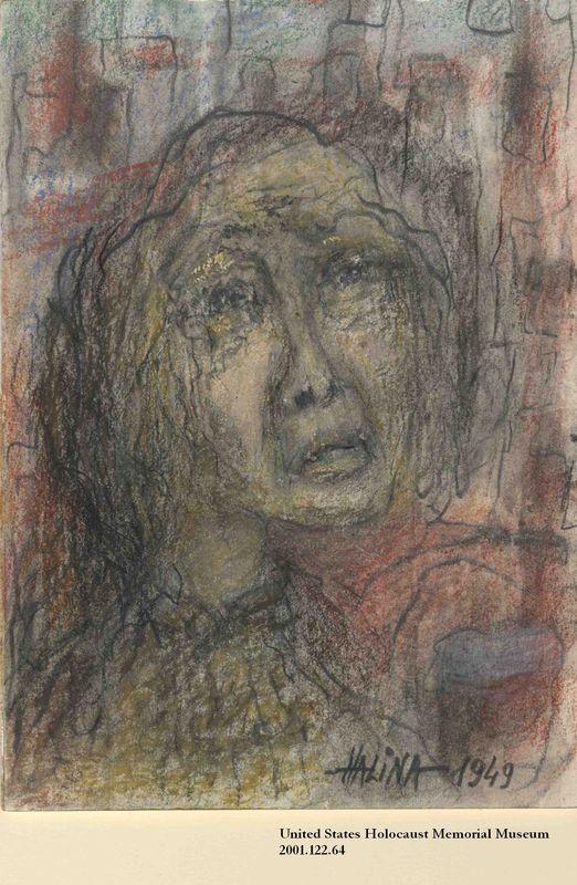 2001.122.64 front Halina Olomucki drawing