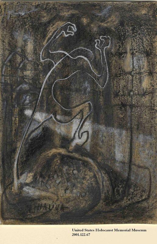2001.122.67 front Halina Olomucki drawing