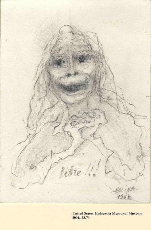 2001.122.70 front Halina Olomucki drawing