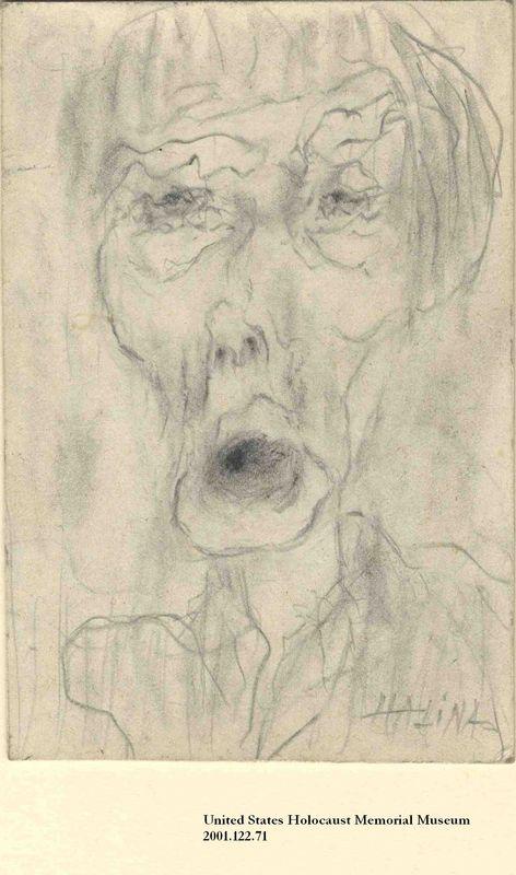 2001.122.71 front Halina Olomucki drawing
