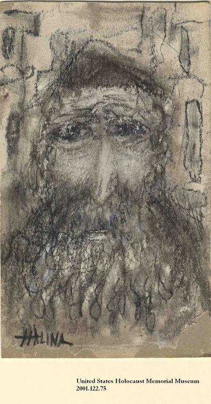 2001.122.75 front Halina Olomucki drawing