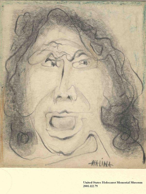 2001.122.79 front Halina Olomucki drawing