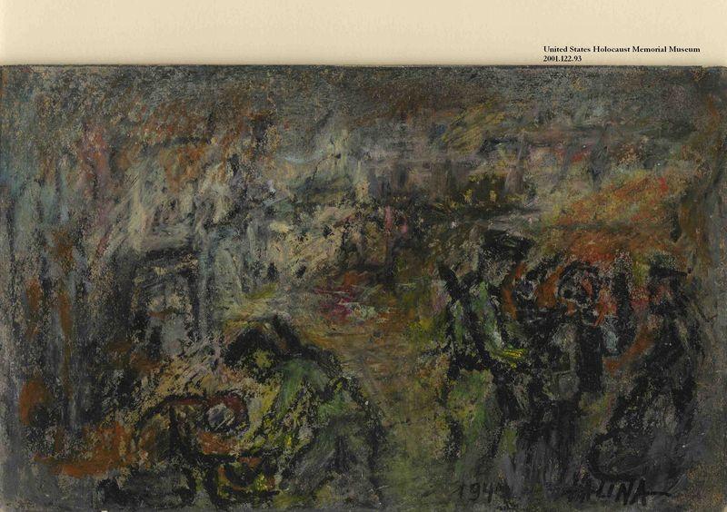2001.122.93 front Halina Olomucki drawing